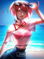 Summer Natsuki by Stumpu