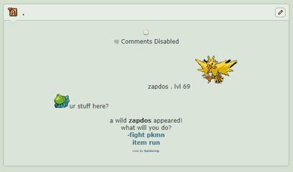 simple pokemon battle noncore f4u page core by Spidering