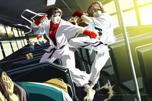Hitomi VS Sakura by scruffyronin