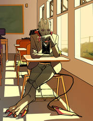 Benedict classroom by ImagineTheEnding