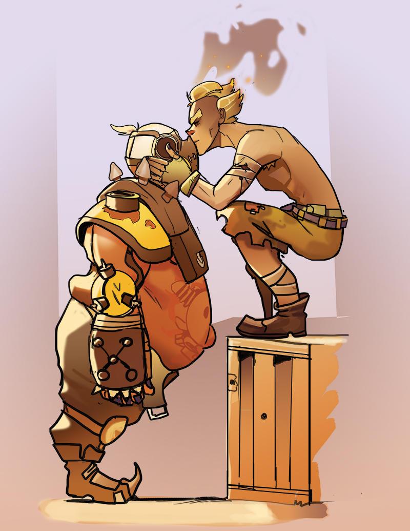 Junkrat and Roadhog by ImagineTheEnding