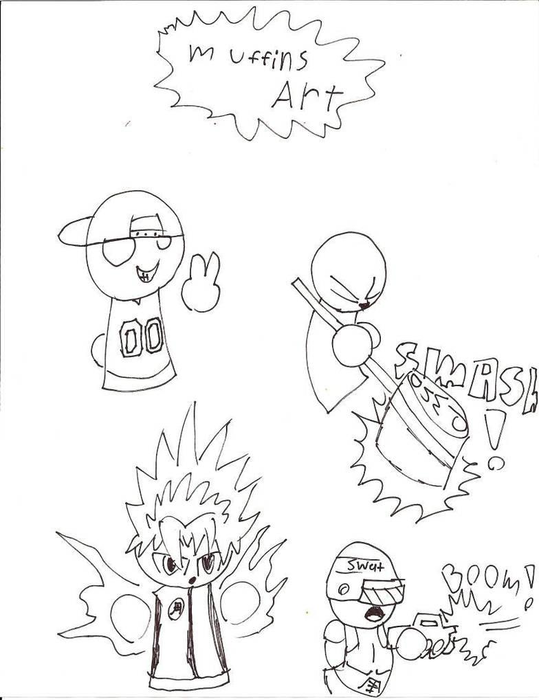 Some random drawings by Muffinsfreak by NoPornPlz93