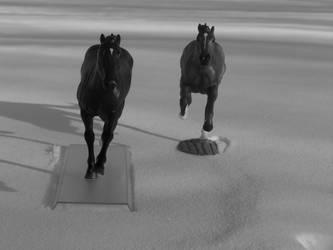 Running Through The Snow by Kitsune-Hayashi