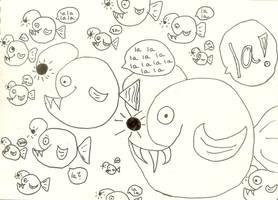 School Singing of Hankler Fish by saltshakercat