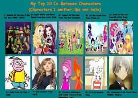 My Top 10 In-Between Characters by MiraculousQueen22