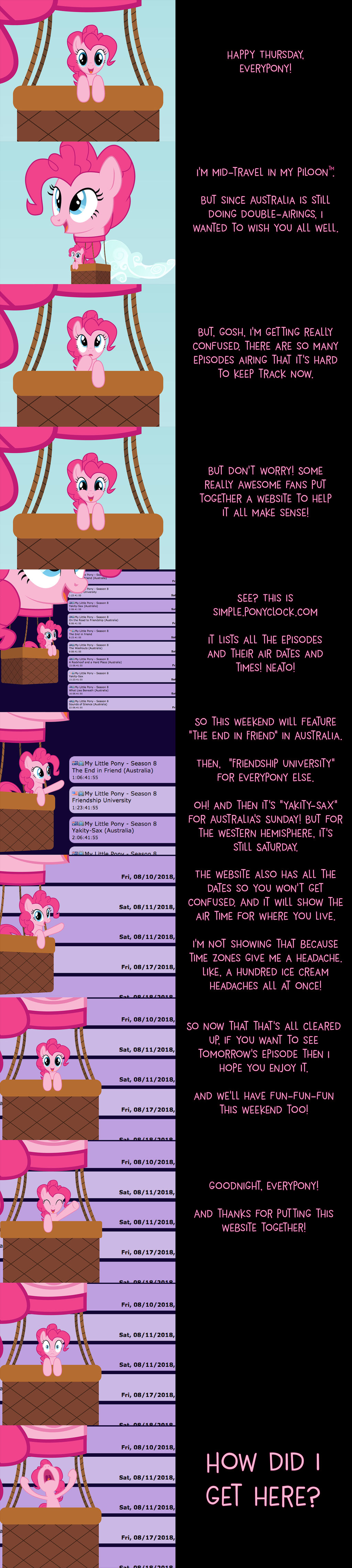 Pinkie Pie Says Goodnight: Simple Ponyclock by MLP-Silver-Quill