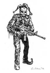 Jester Zombie Sketch by vanishingpoint