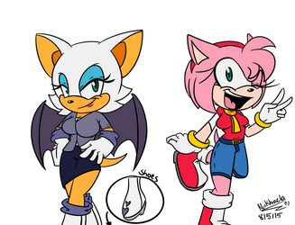 .:Roommates:.Amy and Rouge (Update 5) by Meggie-Meg