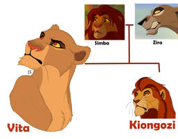 Vita and Kiongozi - children of Simba and Zira by AleksaDarkFrain
