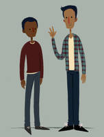 Troy and Abed by Bumbledom