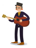 Elvis Costello by Bumbledom