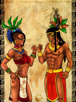 Tezcatlipoca and Xochiquetzal by Manwe-Varda