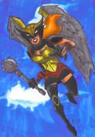 The Hawk Woman by sebatman
