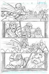 The Fifth Elephant page iii pencils by Murielle
