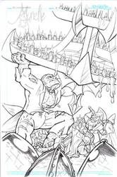 The Fifth Elephant page iv pencils by Murielle