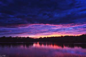Neon Night Sky by JustinDeRosa