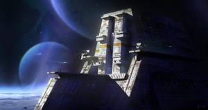 Space Base by Arjen-Sol