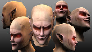 Vampire head practice with bump map by JDVN7
