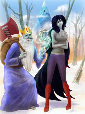 Ice King and Marceline by JDVN7