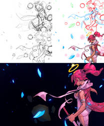 Collaboration: Pink Mist process by O-Orbis