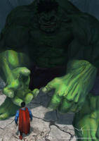 Superman VS The Hulk by waLek05