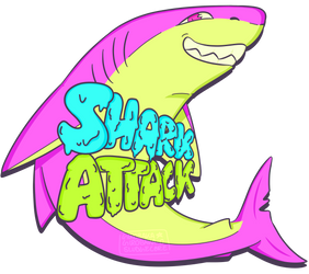 SHARK ATTACK (PRINT AVAILABLE FOR PURCHASE) by comunagrave