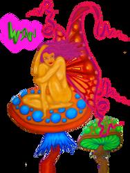 Fairy on Mushroom 47 by benjaminswinn