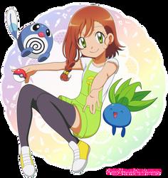CM: Shelly131 ~ Miriam, poliwag and oddish ~ by KurumiErika