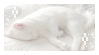 Sleepy White Kitty! Stamp by Aesthetic-Peachille