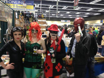 Gotham City Sirens and Red Hood by statenjp