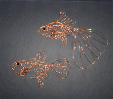 Wire Guppies by Kimantha333