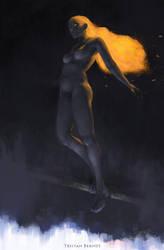 Fire Girl by TristanBerndtArt