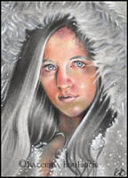 Frost Queen-ACEO by Katerina-Art