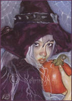Pumpkin Witch - ACEO by Katerina-Art