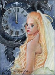 Cinderella - ACEO by Katerina-Art