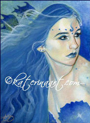 Shades of Blue - ACEO by Katerina-Art