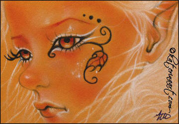 ACEO FAIRY -Autumn Leave by Katerina-Art