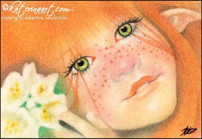 Irish Pixie ACEO by Katerina-Art