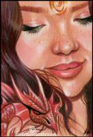 Dragon Beauty ACEO by Katerina-Art