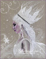 Winter fairy queen by Katerina-Art