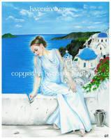 Santorini by Katerina-Art