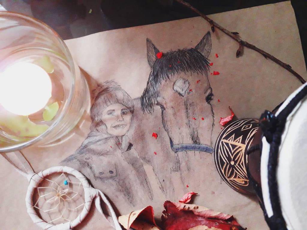 Horse-selfie by Artbyeleegia
