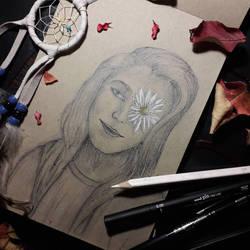 Flower eye. by Artbyeleegia