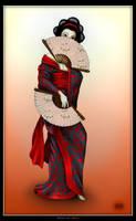 Geisha - colored by geci