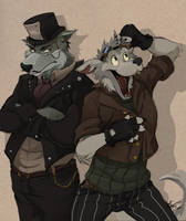 Steampunk Wolves by wolf67890