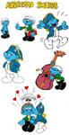 Aubreyad Smurfs by tootsiemuppet