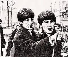 Beatles - Paul + George by tootsiemuppet