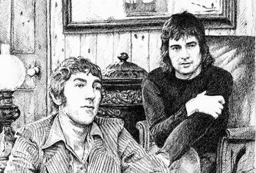 Peter Cook and Dudley Moore by tootsiemuppet