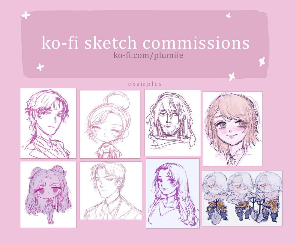 Ko-fi Sketch Commissions by Reba
