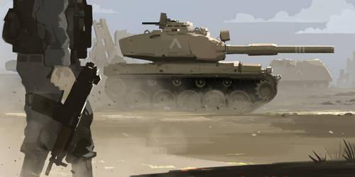 Armored strike by sketchboook